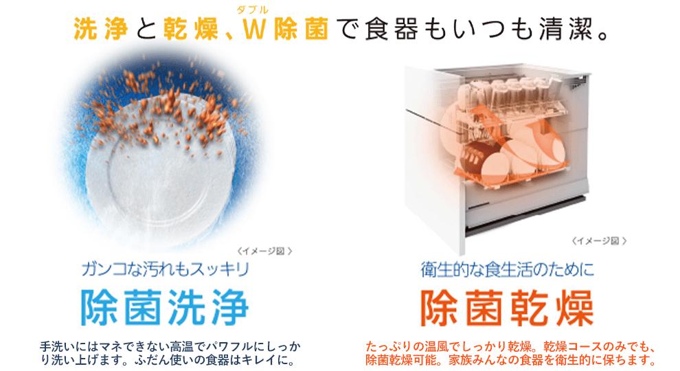 除菌洗浄・除菌乾燥